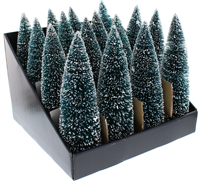 Festive Green Bristle Tree 25cm