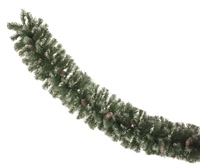 Festive 270cm Frosted Garland With Mixed Tips And Cones