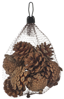 Festive Natural Pinecones In Bag