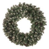 Festive Frosted Wreath With Cones