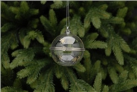 Festive Clear Snowflake Trinket Glass Bauble