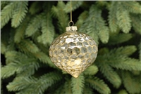 Festive Frosted Honeycomb With Leaf Bauble