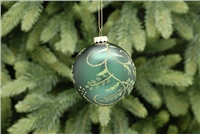 Festive Glitter Leaf Design Bauble
