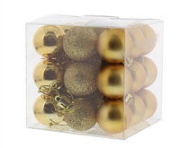 Festive 27 Pack Gold Baubles