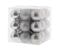 Festive 27 Pack Mixed Finish Baubles