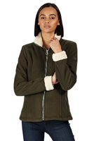 Regatta Brandall Womens Fleece Dark Khaki(LightVanilla)