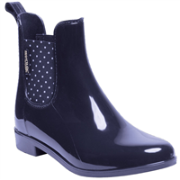 Regatta Lady Harriet Ankle Wellingtons Navy White Sand