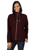 Regatta Zaylee Womens Full Zip Fleece Dark Burgundy
