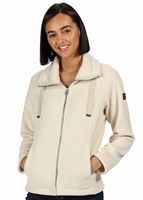 Regatta Zaylee Womens Full Zip Fleece Light Vanilla
