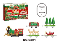 Festive Bo Elf Train Set With Lights And Music