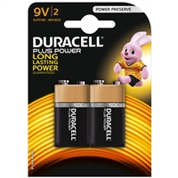 Duracell 9v 2pk batteries - plus power