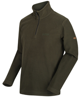 Regatta Mens Elgrid Half Zip Fleece Dark Khaki