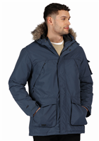 Regatta Mens Salinger II Parka Jacket Dark Denim