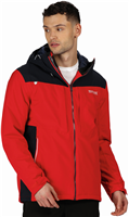 Regatta Mens Highton Stretch Jacket True Red Nightfall Navy
