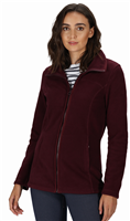 Regatta Womens Fayona Full Zip Fleece Dark Burgundy