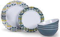 Kampa Flora Dinner Set 12 Piece