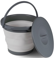 Kampa 5L Collapsible Bucket With Lid Grey