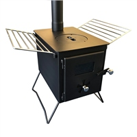 Nordic Flame Deluxe Wood Burning Tent Stove with Baffle