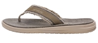 Hey Dude  Jax Natural Beige Flip Flops