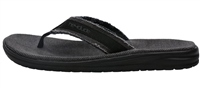 Hey Dude  Jax Natural Black Flip Flops