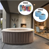 MSpa  Reve Elite 4 Person Inflatable Hot Tub Special Offer Bundle