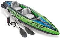 Intex Challenger K2 Two Person Inflatable Kayak Set