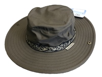 White Rock Classic Outback Hat with Band DARK GREY