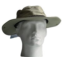 White Rock Classic Outback Hat with Suede Band Light Green