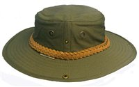 White Rock Classic Outback Hat with Suede Band OLIVE