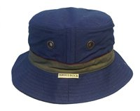 White Rock Oasis Cotton Solid Band Hat NAVY