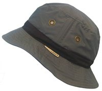 White Rock Oasis Cotton Solid Band Hat DARK GREY