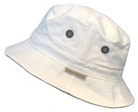 White Rock Oasis Cotton Solid Band Hat WHITE
