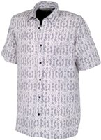 White Rock Men's Global Traveller Shirt GREY PACIFIC PRINT