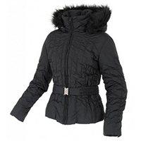 White Rock Ladies Pinstripe Ski Jacket Black