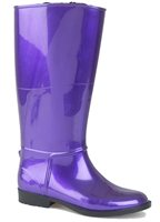 Lunar Fleece Moon Wellington Boot Purple
