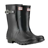 Hunter Original Short Wellington Boot  - Black