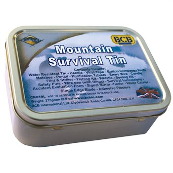 BCB Adventure Mountain Survival Tin  - Click to view a larger image