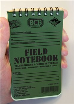 BCB Adventure Field Notepad  - Click to view a larger image