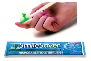 SmileSaver Rinse Free Disposable Toothbrush  - Click to view a larger image