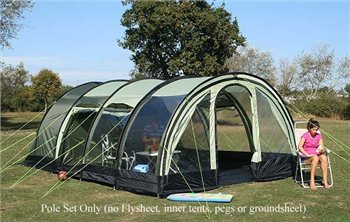 K&a Carbis 5 Tunnel Tent - POLE SET ONLY - Click to view a larger image & Kampa Carbis 5 Tunnel Tent - POLE SET ONLY | CampingWorld.co.uk