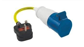 Outwell Conversion Lead Plug UK and EU  - Click to view a larger image
