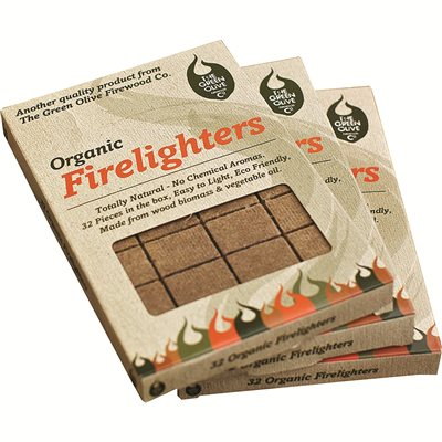 Green Olive Co ECO Friendly Organic Firelighters  - Click to view a larger image
