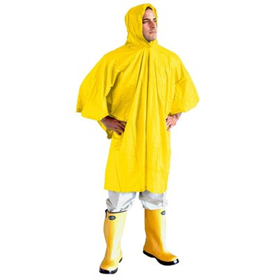 Summit Yellow PVC Poncho with Hood 2018  - Click to view a larger image