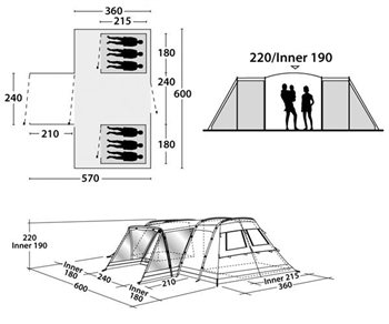 Outwell Idaho L Tent Spares  - Click to view a larger image