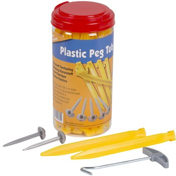 Kampa Plastic Pegs & Puller Set   - Click to view a larger image