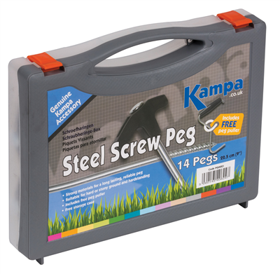 Kampa Steel Screw Peg 14 Pack   - Click to view a larger image