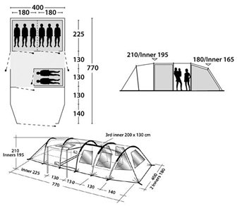 Outwell Norfolk Lake Tent Spares  - Click to view a larger image
