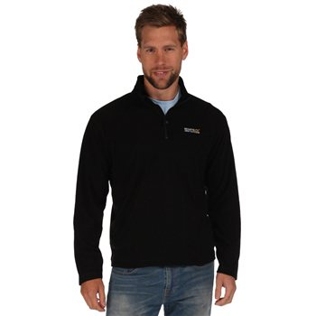Regatta Thompson Mens Fleece Black 2018  - Click to view a larger image