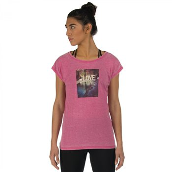 Dare2b Restful T Shirt  Electric Pink  - Click to view a larger image