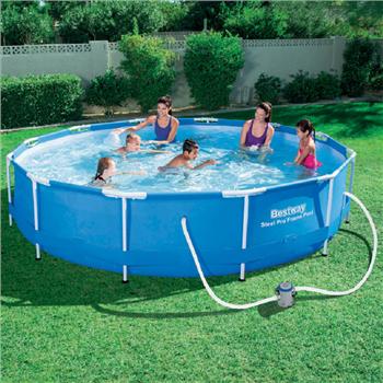 Bestway 12ft x 30ins steel pro frame pool set for Bestway portable pool